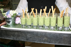 Minted-Pea-Shooters-with-Creme-Fraiche-and-Crostini